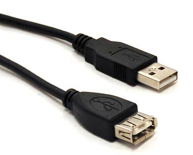 CABLE USB V2.0 EXTENSION  90 CMS NEGRO