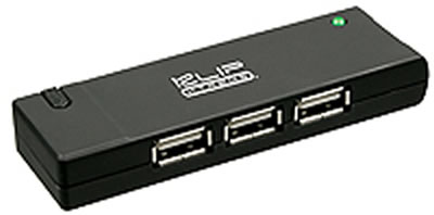 KlipX Black 4 Port portable USB Hub 2.0 (KUH-400B)