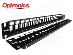 PATCH PANEL MULTIMEDIOS COMPATIBLE CON MÓDULOS DE FIBRA