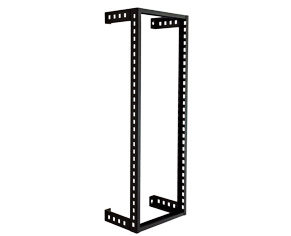 "RACK DE PARED DE ACERO 19"" X 10 U.R. X 12.5"" COLOR NEGRO."