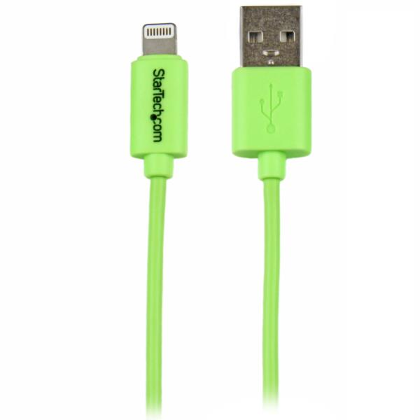 Cable de 1 metro con Conector Lightning de Apple® a USB para iPhone / iPod / iPad - Verde